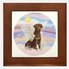 ORN - Clouds - Lab Angel (Choc) Framed Tile