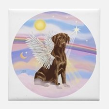 ORN - Clouds - Lab Angel (Choc) Tile Coaster