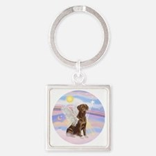 ORN - Clouds - Lab Angel (Choc) Square Keychain