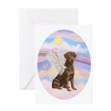 Chocolate Lab Angel Greeting Card