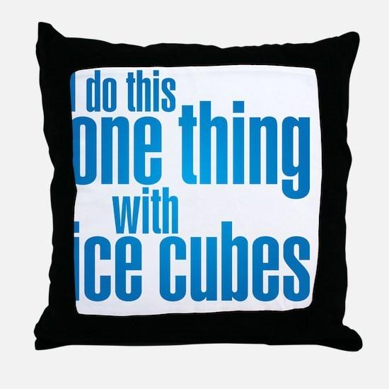 ice cubes Throw Pillow