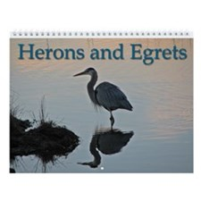 Herons And Egrets Wall Calendar