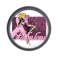 Fighting Cancer Wall Clock