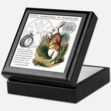 The White Rabbit Alice in Wonderland  Keepsake Box