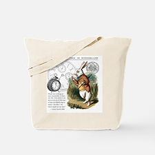 The White Rabbit Alice in Wonderland Puzz Tote Bag