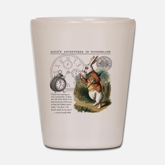 The White Rabbit Alice in Wonderland Pu Shot Glass