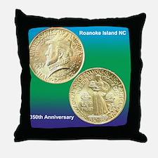 Roanoke Island NC 350th Anniversary H Throw Pillow