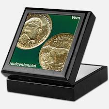 Vermont Sesquicentennial Half Dollar  Keepsake Box