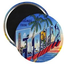 Vintage Greetings from Florida Postcard Magnet