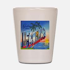 Vintage Greetings from Florida Postcard Shot Glass