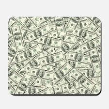 100 Dollar Bill Money Pattern Mousepad