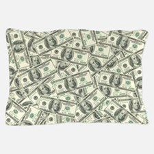 100 Dollar Bill Money Pattern Pillow Case