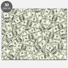100 Dollar Bill Money Pattern Puzzle
