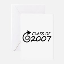 Class of 2007 swirl Greeting Cards (Pk of 10)