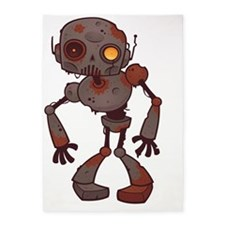Rusty Zombie Robot 5'x7'Area Rug