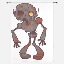 "Rusty Zombie Robot 84"" Curtains"