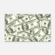 100 Dollar Bill Money Pattern Rectangle Car Magnet