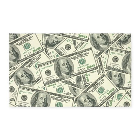 100 Dollar Bill Money Pattern 3 X5 Area Rug By Admin Cp3269