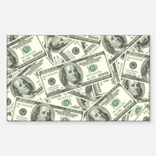 100 Dollar Bill Money Pattern Decal