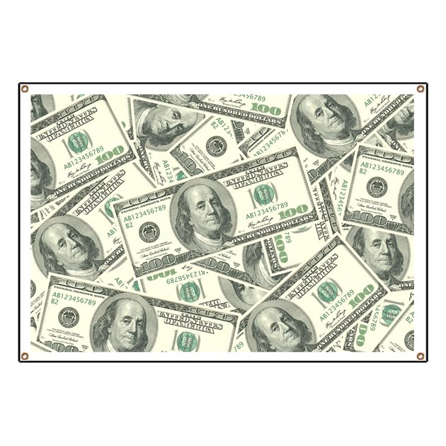 100 Dollar Bill Money Pattern Banner By Admin Cp3269