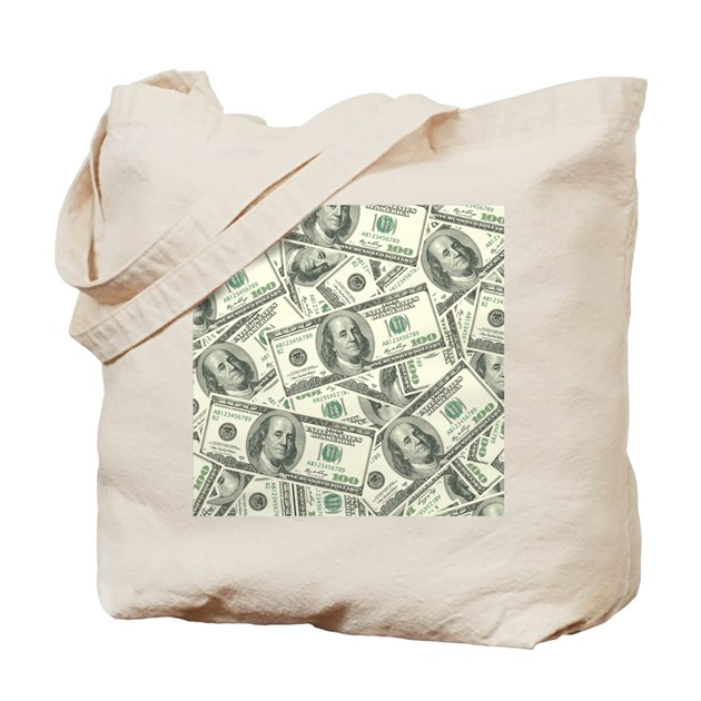 100 Dollar Bill Money Pattern Tote Bag By Admin Cp3269