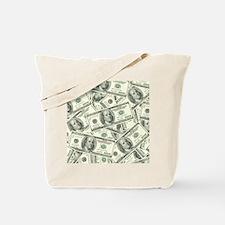 100 Dollar Bill Money Pattern Tote Bag