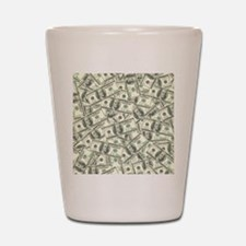 100 Dollar Bill Money Pattern Shot Glass