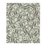 100 dollar bill Fleece Blankets