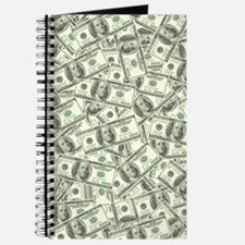 100 Dollar Bill Money Pattern Journal