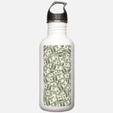 100 Dollar Bill Money  Sports Water Bottle