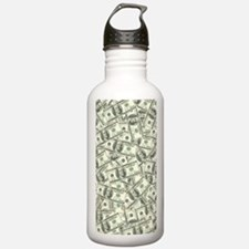100 Dollar Bill Money  Water Bottle