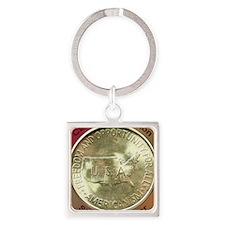 Carver/Washington Half Dollar Coin Square Keychain