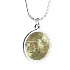 Carver/Washington Half Dolla Silver Round Necklace