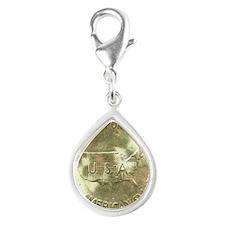 Carver/Washington Half Doll Silver Teardrop Charm