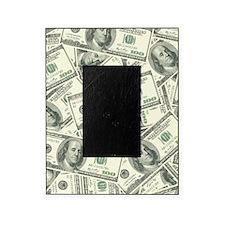 100 Dollar Bill Money Pattern Picture Frame