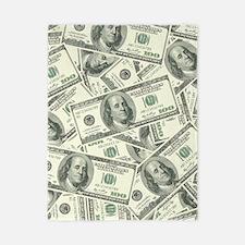 100 Dollar Bill Money Pattern Twin Duvet