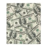Hundred dollar bill Blankets
