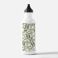 100 Dollar Bill Money  Water Bottle