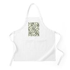 100 Dollar Bill Money Pattern Apron