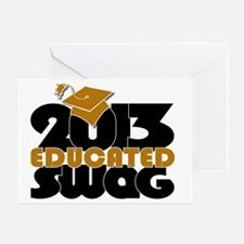 Educated Swag Gold/Black Greeting Card