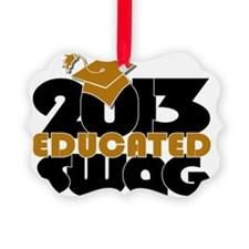 Educated Swag Gold/Black Ornament