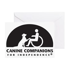 Black  White Canine Companions Logo Greeting Card