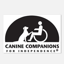 Black  White Canine Compa Postcards (Package of 8)