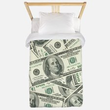 100 Dollar Bill Money Pattern Twin Duvet