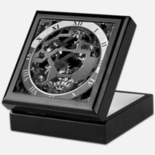 Clockwork Silver Keepsake Box