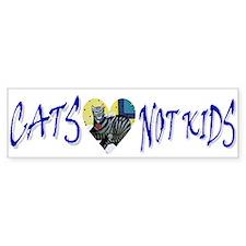 Cats, Not Kids Bumper Bumper Sticker