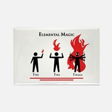 Elemental Magic - Firaga Rectangle Magnet