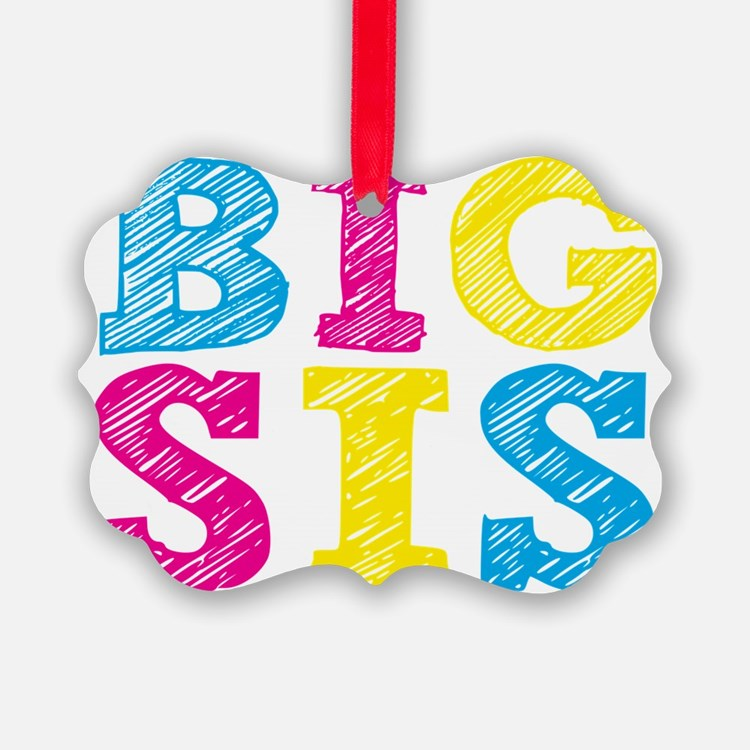 Multi-Colored Big Sis Ornament