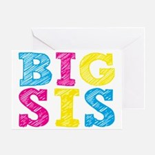 Multi-Colored Big Sis Greeting Card