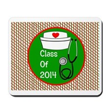 nurse ornament class of 15 Mousepad